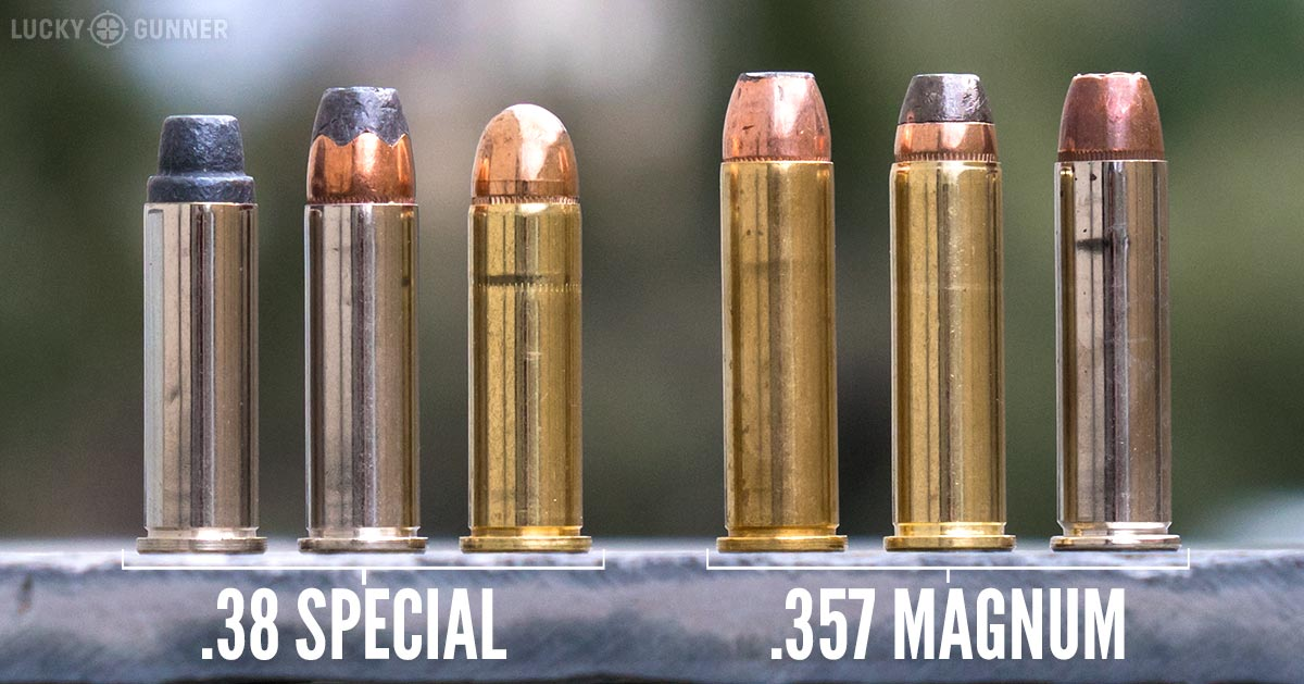 .38 Special and .357 Magnum size comparison