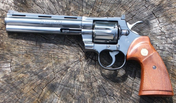 A photo of a 6 inch Colt Python